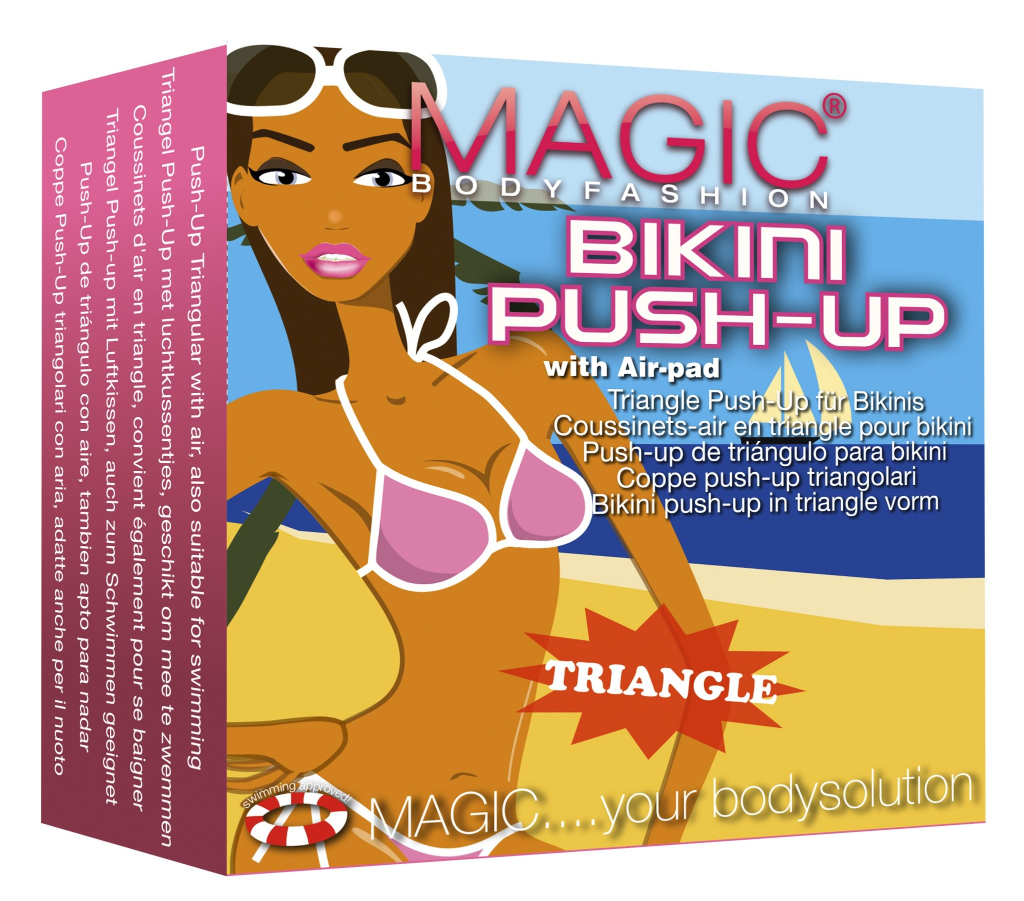 Magic Bikini Push Up pads huidskleur