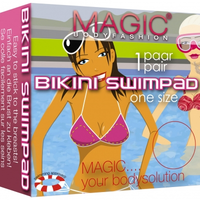Magic bikini swim pad transparant