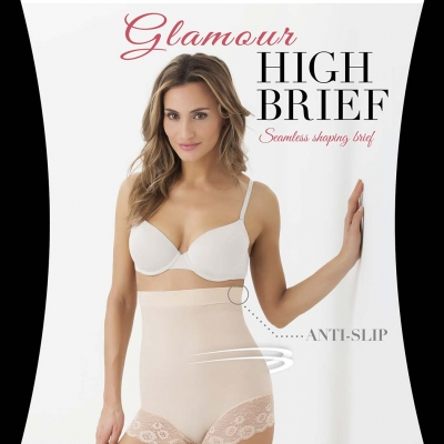 Cette Glamour High Brief huid