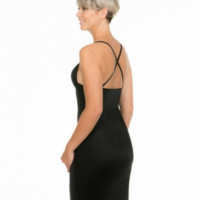 Magic V-Dress zwart